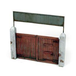 Portón de madera 15x15cm, Diorama Accessories