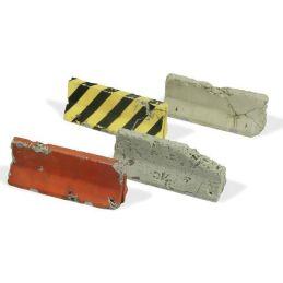 Barreras de cemento dañadas, Diorama Accessories