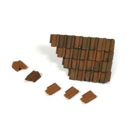 Tejas y seccion tejado en ruinas, Diorama Accessor